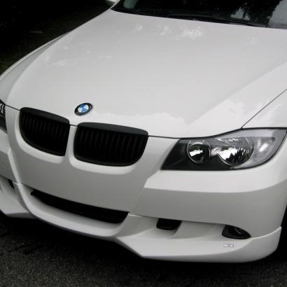 Юбка на передний бампер на BMW 3 E90
