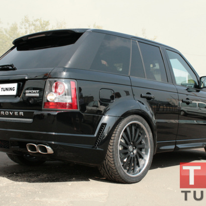 Накладка на задний бампер на Land Rover Range Rover Sport L322