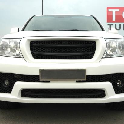 Накладка на передний бампер на Toyota Land Cruiser 200