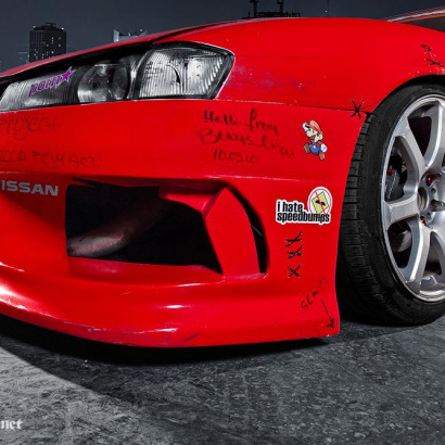 Передний бампер - Обвес на Nissan Silvia S14