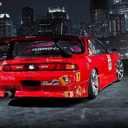 Задний бампер - Обвес на Nissan Silvia S14
