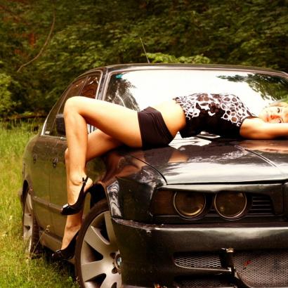 Реснички  на BMW 5 E34