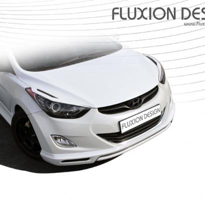 Накладка переднего бампера на Hyundai Elantra 5 (Avante MD)