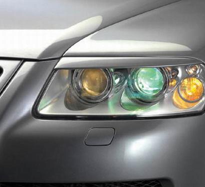 Реснички - накладки на фары  на VW Touareg I