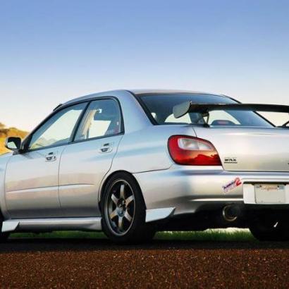Брызговики (клыки) на Subaru Impreza WRX GD