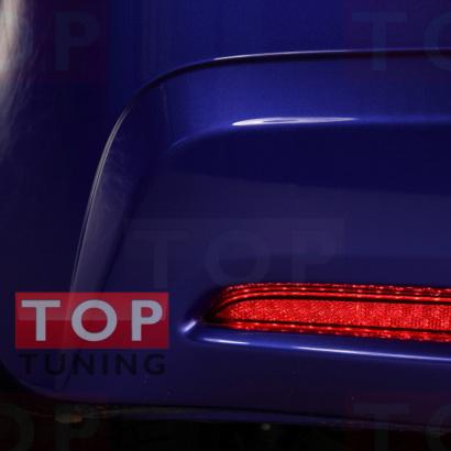 Светодиодные вставки в задний бампер на Honda Jazz