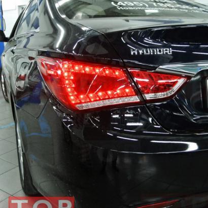 Задние тюнинг-фонари на Hyundai Sonata 6 (YF)