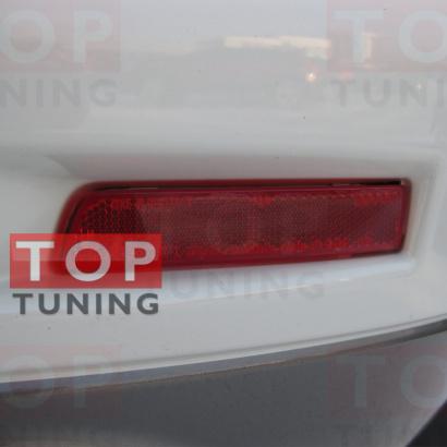 Катафот со светодиодной вставкой в задний бампер на Nissan Murano 2 (Z51)