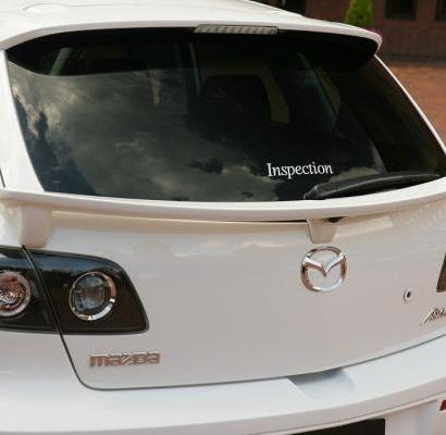 Нижний спойлер на Mazda 3 BK