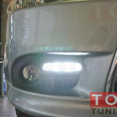 Дневные ходовые огни на Mitsubishi Lancer 10 (X)