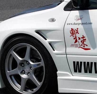 Крылья с жабрами и расширением на Mitsubishi Lancer Evolution 7,8,9 (VII, VIII, IX)