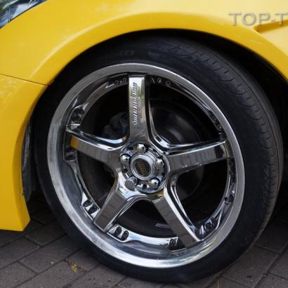 Накладки на передний бампер на Toyota Celica T23