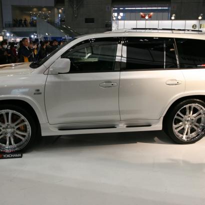 Накладки на штатные подножки - обвес на Toyota Land Cruiser 200