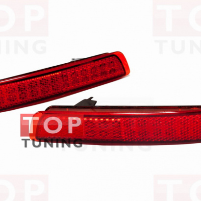 Светодиодные вставки в задний бампер на Infiniti QX70 (FX35, 37, 50)