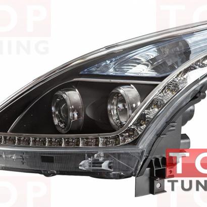Передняя тюнинг-оптика на Nissan Teana 2 (J32)