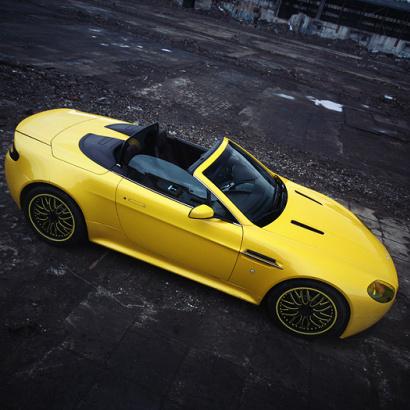 Задний диффузор на Aston Martin Vantage Coupe