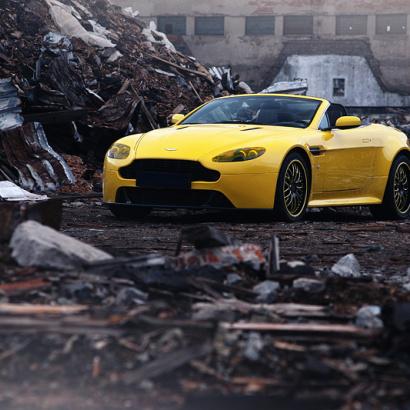 Передний бампер - Обвес на Aston Martin Vantage Coupe