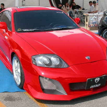 Передний бампер - Обвес на Hyundai Tiburon Coupe GK