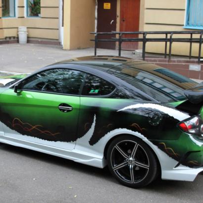 Пороги - Обвес Warrior  New на Hyundai Tiburon Coupe GK
