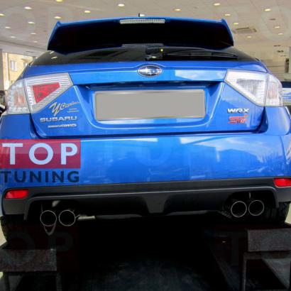 Светодиодные вставки в задний бампер на Subaru Impreza 3