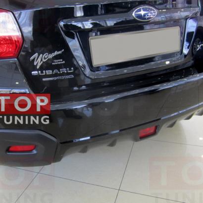 Светодиодные вставки в задний бампер на Subaru Impreza XV
