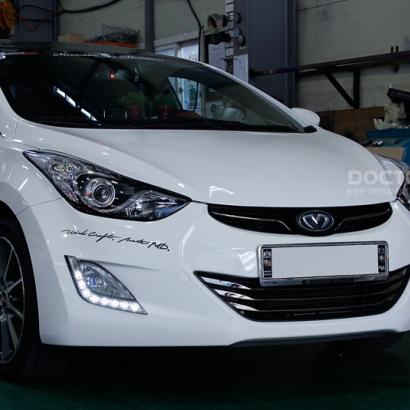 Светодиодные ходовые огни на Hyundai Elantra 5 (Avante MD)
