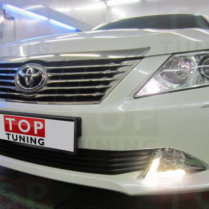 Дневные ходовые огни на Toyota Camry V50 (7)