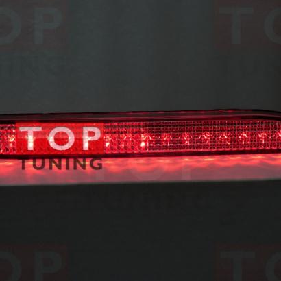 Светодиодные вставки в задний бампер на Toyota Camry V50 (7)