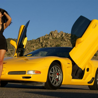 Ламбо двери на Chevrolet Corvette Z6