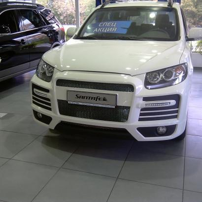 Передний бампер - Обвес на Hyundai Santa Fe 2 (CN)