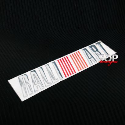 Наклейка - эмблема Ralli Art 180 x 38 на Mitsubishi