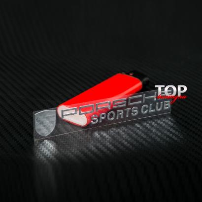 Наклейка - эмблема на Porsche