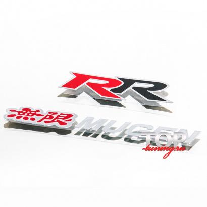 Наклейка - эмблема Mugen RR 106 x 34 на Honda