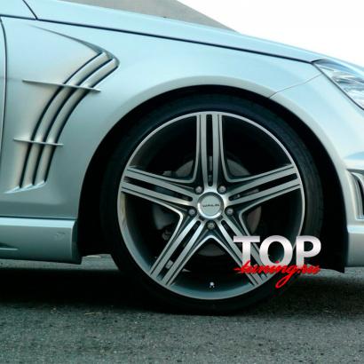 Крылья передние - обвес на Mercedes C-Class W204