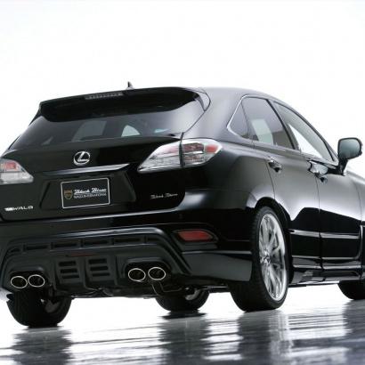 Накладка на задний бампер - обвес на Lexus RX  3