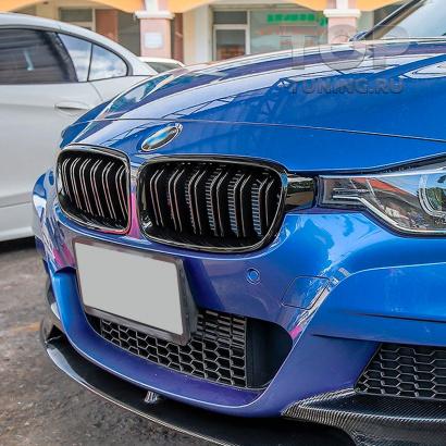 Двойные решетки радиатора M3 Look Shadow line для BMW 3 F30