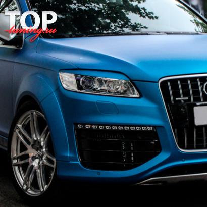 Реснички - накладки на фары на Audi Q7