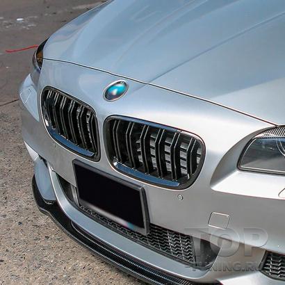 Двойные решетки радиатора M5 Look Shadow line для BMW 5 F10 / F11