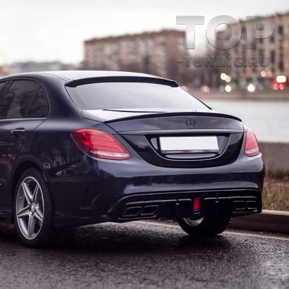 Диффузор Renegade для заднего бампера Mercedes C-Class W205