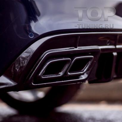 Черные насадки AMG для Mercedes C-Class W205