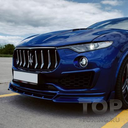 Юбка на передний бампер Renegade для Maserati Levante