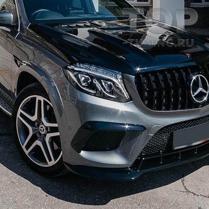 Накладки Renegade на передний бампер для Mercedes GLS X166