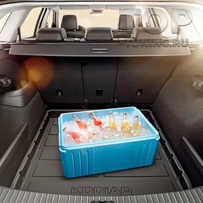 Пластиковый поддон в багажник для KODIAQ