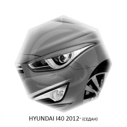 Реснички для Hyundai I40 (седан, дорест)