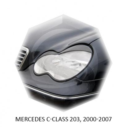 Реснички на фары для Mercedes Benz С-class w203