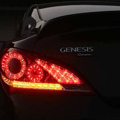 Задние светодиодные фонари на Hyundai Genesis 1