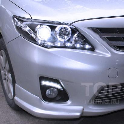 Дневные ходовые огни на Toyota Corolla E150