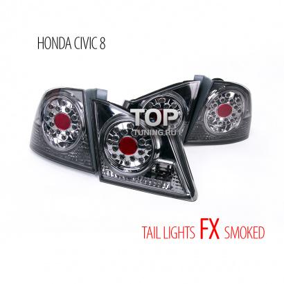 Задние светодиодные тюнинг-фонари на Honda Civic 4D (8)