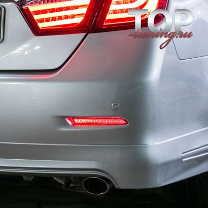 Светодиодные вставки в задний бампер на Toyota