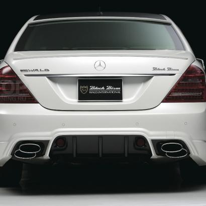 Задний бампер - обвес на Mercedes S-Class W221